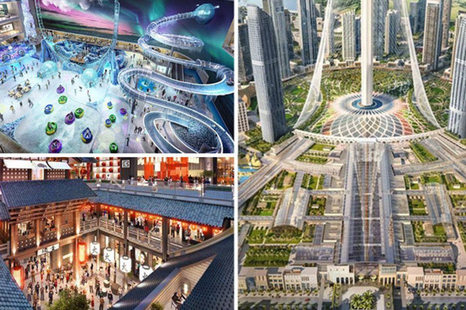 Look around Dubai's new £2 BILLION shopping mall – it's the size of 100 football pitches