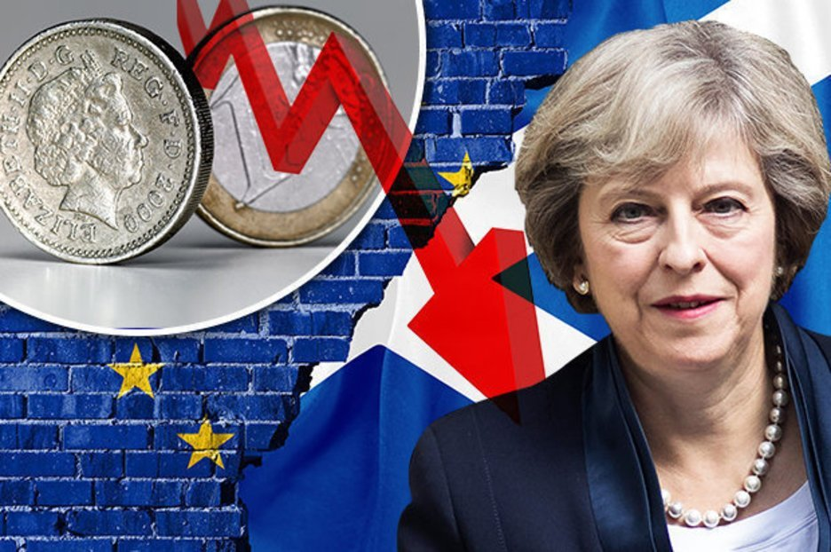 Pound to euro exchange rate: Sterling hits 11-month LOW after May's Brexit no-deal comment