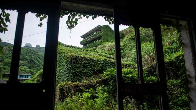 Abandoned town swallowed up by nature