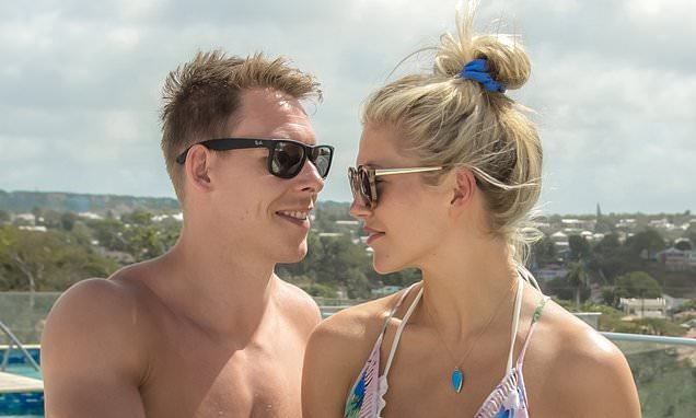 Welsh rugby star Liam Williams romances his girlfriend in Barbados