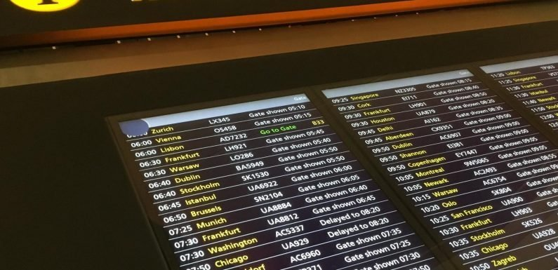 Heathrow screens go blank as airport's latest information failure prompts chaos for passengers
