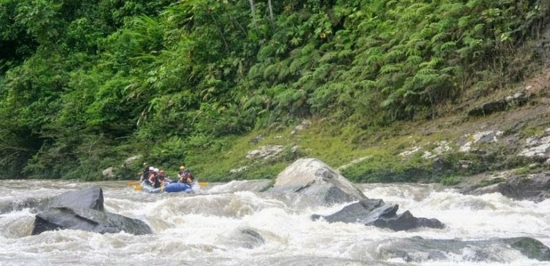 This is what it's like to go white water rafting in Ecuador – and fall out of the raft