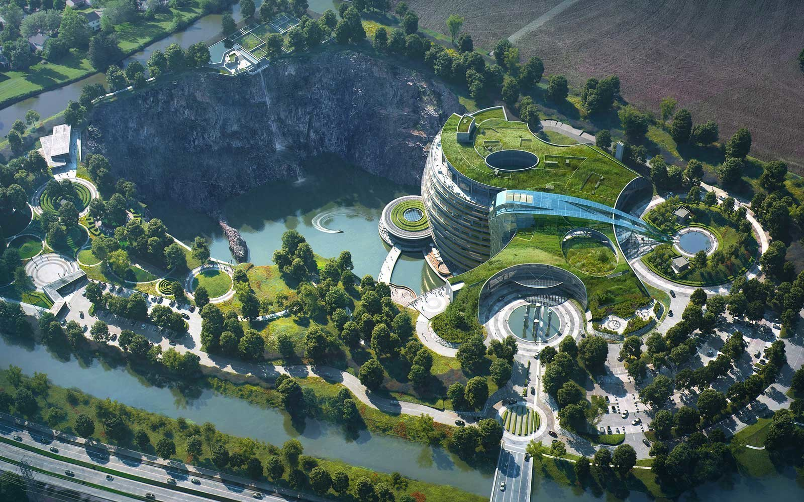 China Is Opening the 'World's First Underground Hotel' Inside an Abandoned Quarry