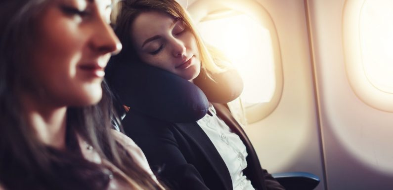 How to fall asleep on a plane