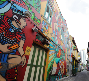 Worthy Street art locations in Singapore ·