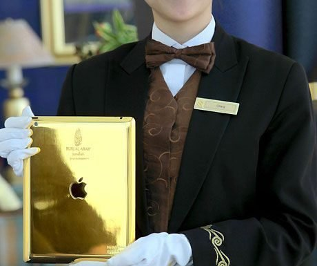 The ultimate hotel check-in, complete with 24-carat gold iPad