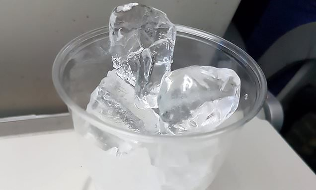 Passenger who asked for water claims he was given cup of ice
