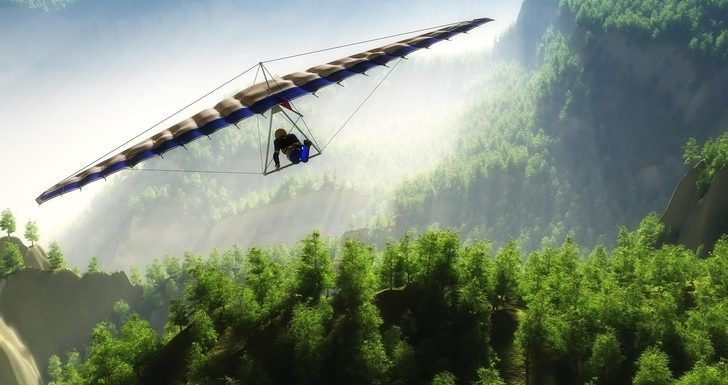 WATCH: Unsecured Hang Gliding Tourist Left Holding on for Dear Life
