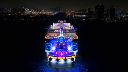 Biggest Cruise Ship in the World Makes Debut to U.S. ·