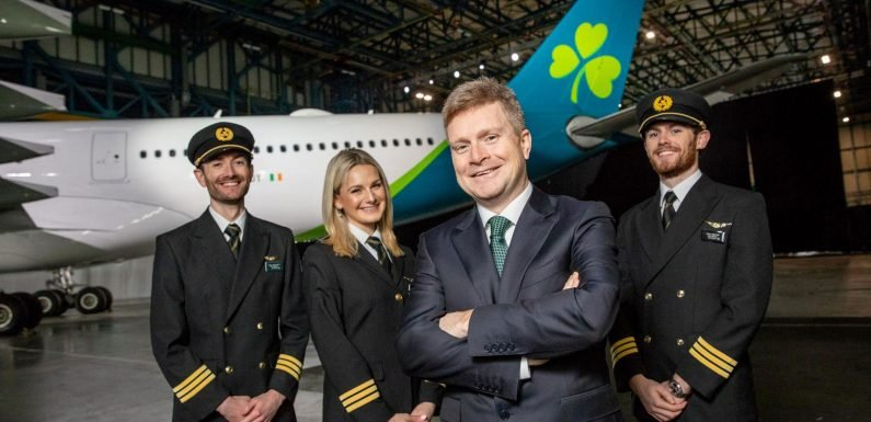 Aer Lingus unveils new logo and livery