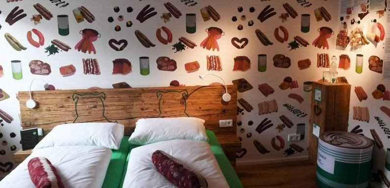 Inside the bizarre sausage-themed hotel where everything is about Bratwurst