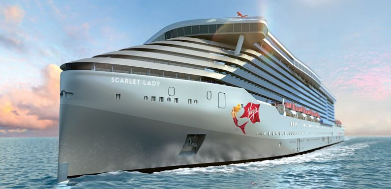 Virgin's new cruise ship is now afloat and we've got a sneak peek