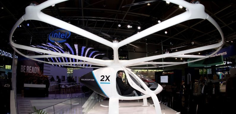 Frankfurt airport working on flying taxis