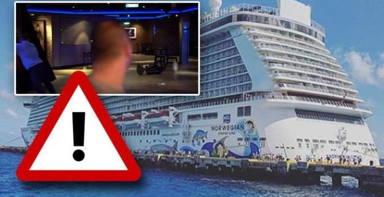 WATCH: Norwegian Escape cruise passengers injured after freak 115mph wind hits ship