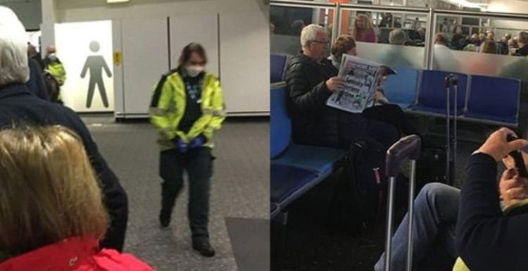Shock images show sick Virgin Atlantic passengers quarantined at Gatwick for four hours