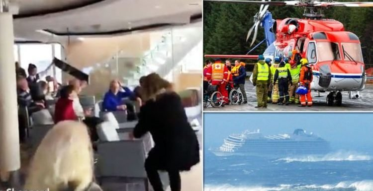 WATCH: Shocking moment Viking Cruises ship smashed by 'brutal' 26ft high waves