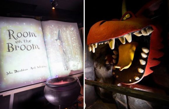New attraction inspired by the book 'Room on the Broom' opens at Chessington