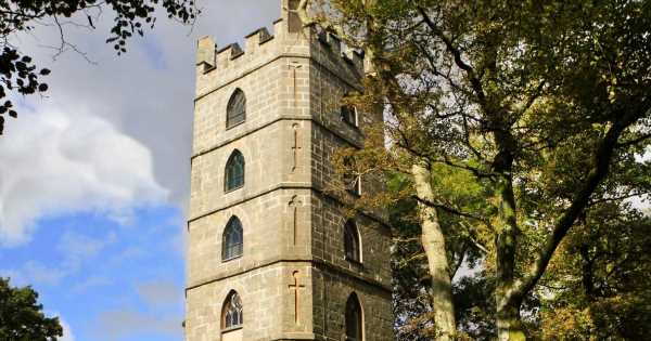 Inside the Rapunzel tower in the UK which you can actually book out for holidays