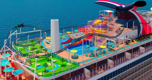 Take a sneak peek at the world's first rollercoaster on a cruise ship