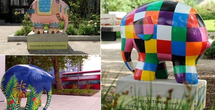 Free things to do London: Elmer the Elephant sculpture trail in Elephant Park now open