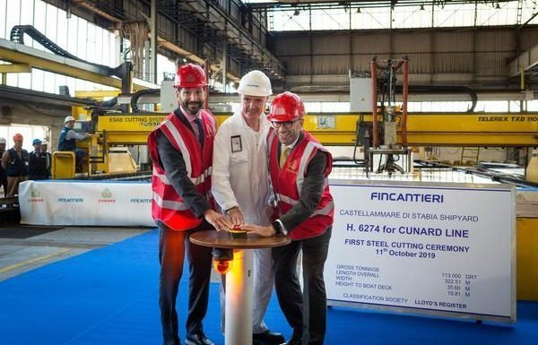 Steel Cutting Ceremony Begins Countdown to New Cunard Ship