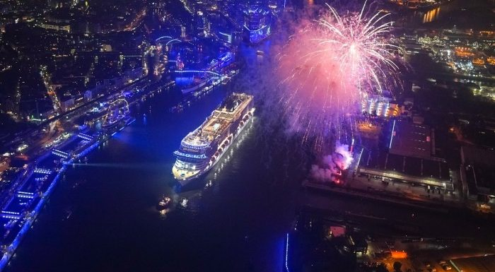 MSC Grandiosa christened in Hamburg, Germany
