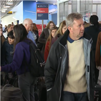 """""""It's frustrating"""": Holiday travelers snarled by storms"""