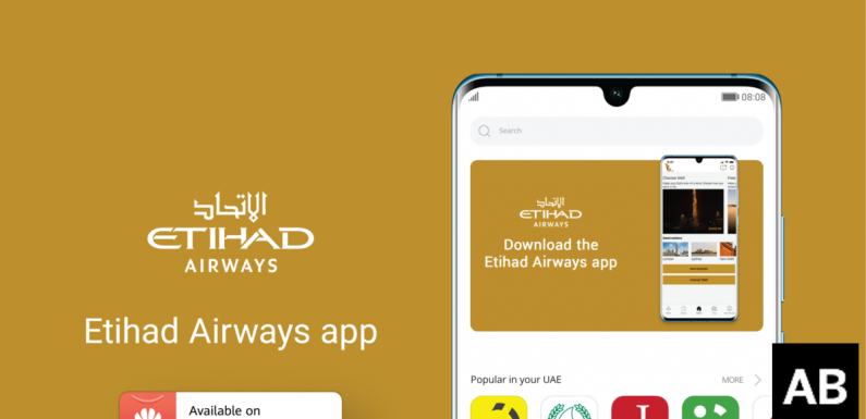 Etihad launches mobile application on Huawei's AppGallery