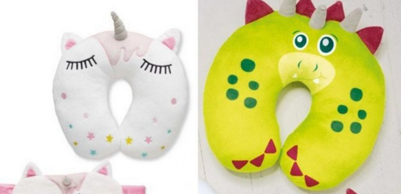 Aldi sells cute travel pillows that help kids get to sleep in 'minutes'