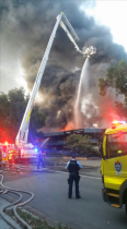 Large fire breaks out near Sydney airport