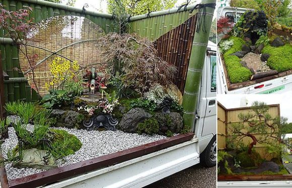 The Japanese competition that sees gardens built on mini TRUCKS
