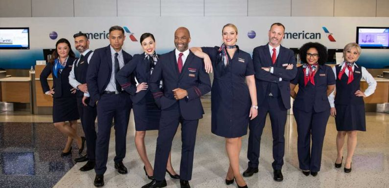 AA employees sport new uniforms