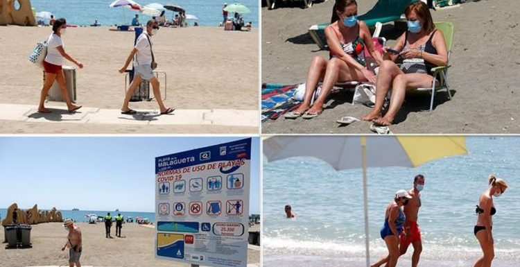 Spain: Pictures reveal the major holiday changes as tourists return to Malaga's beaches