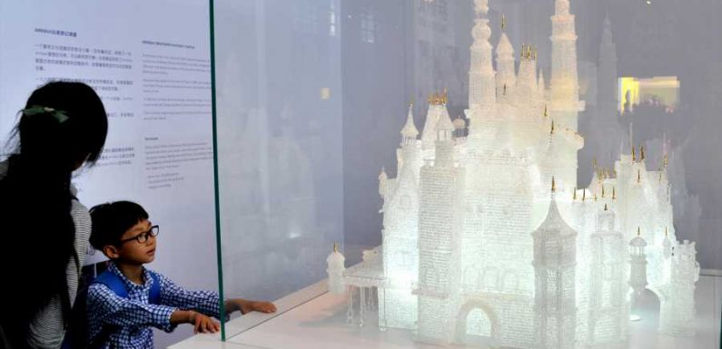 Kids Break $64,000 Glass Replica of Disney Castle That Took Over 500 Hours to Make