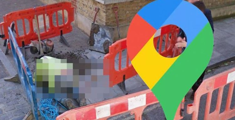Google Maps Street View: London builder's embarrassing exposure caught on camera