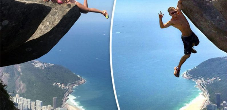 These tourists are not as brave as they look – can you see why?