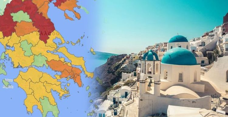 Greece holidays: Country introduces new colour-coded map showing covid hotspots
