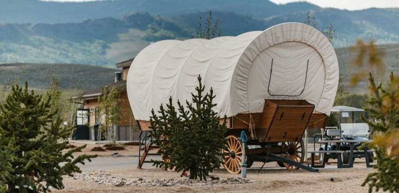 This Colorado Campsite Now Offers Oregon Trail Style Covered Wagon Glamping