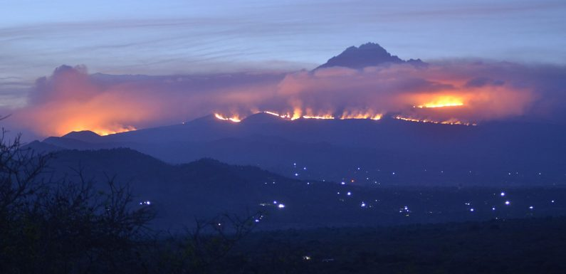 A Wildfire Has Burned at Least 13 Miles of Mt. Kilimanjaro