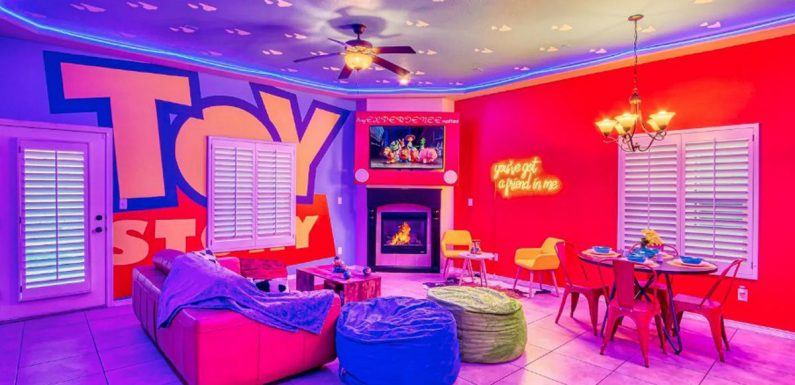 Toy Story themed house comes with Woody-style room and cool gadgets for kids