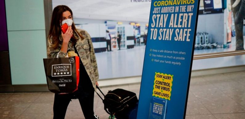 Travel quarantine 'to be slashed in half to 7 days after lockdown ends'