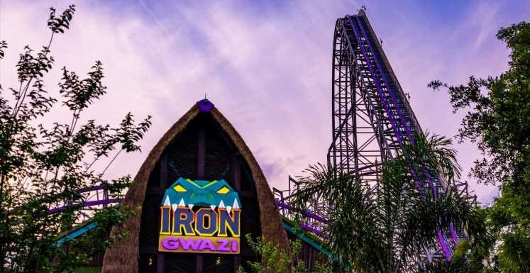 Exclusive: Watch the first video from Florida's record-breaking Iron Gwazi roller coaster