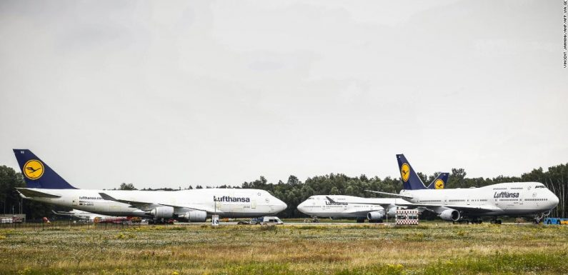 Six 747s flew into a Dutch airport — but then couldn't leave