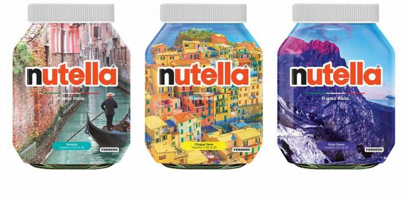 Nutella Celebrates the Beauty of Italy With 30 Limited-edition Labels