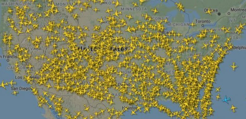 Staggering number of people flying in US