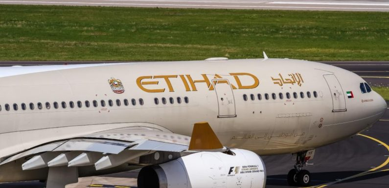 Etihad Airways launches charter services as coronavirus continues to bite