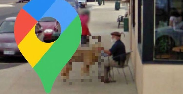 Google Maps Street View: Man caught outside of cafe with bizarre acquaintance
