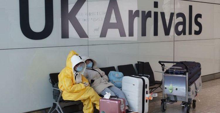 Travel chaos as Shapps delays coronavirus testing regime for UK arrivals amid huge backlas