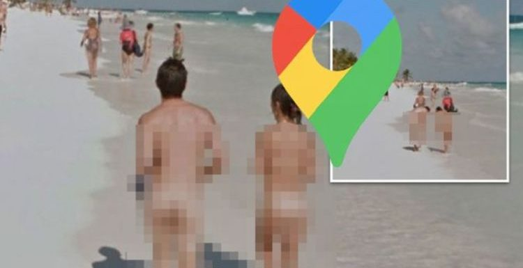 Google Maps: Saucy duo caught flashing on beach – Street View forced to blur rude images
