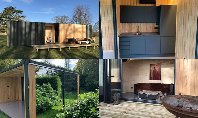 Company transforms shipping containers into luxury lodges